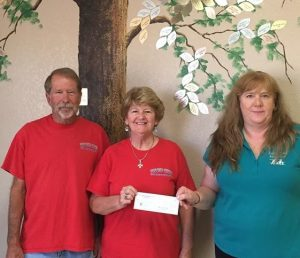 Bobbi and Larry Ferguson presented a check for $1000. to H.A.V.E.N director Mary Lou O Connell on behalf of Relics and Rods Car Club