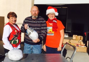 Betty and Ralph Cram with Sandy Cooke deliveded 65 frozen turkeys to Interagency Food Bank on behafl of our car club.